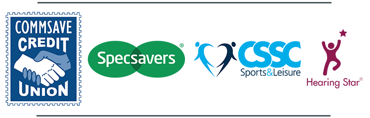 Our 2019 Award Sponsors - Commsave, Specsavers, CSSC, Hearing Star