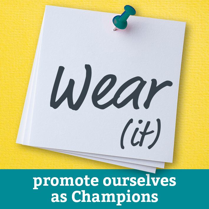 The Champions - wear it to promote yourself