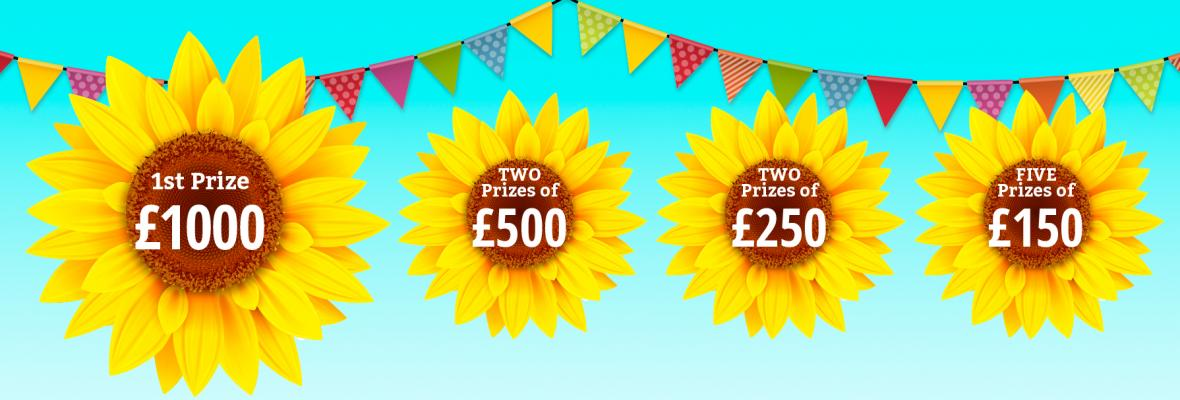 Sunflowers, bunting and prizes for Summer Prize Draw