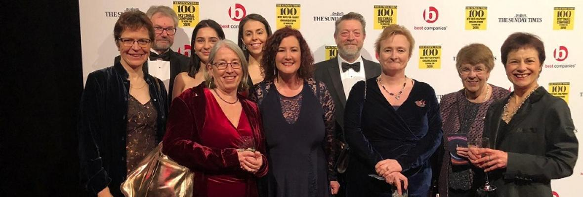Charity staff and trustees at the Sunday Times ceremony