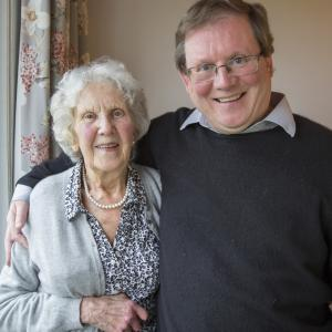 Geoff with his mother, whom he cares for