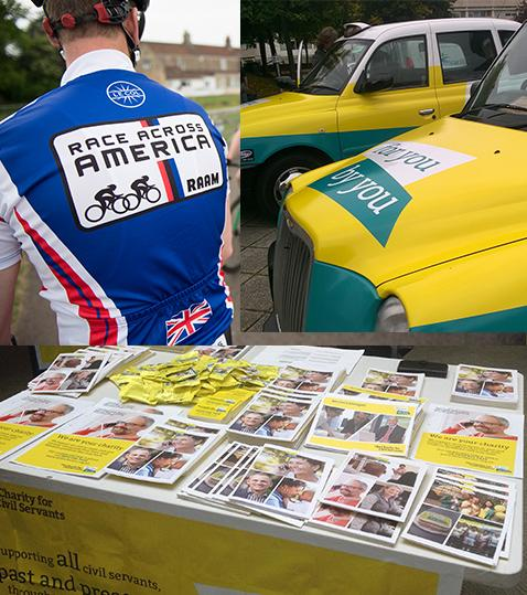 Race Across America, For You By You Taxis, Table of Charity Material