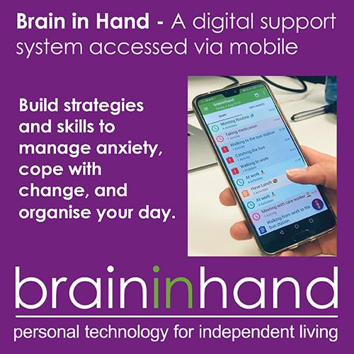 Brain in hand introduction tile