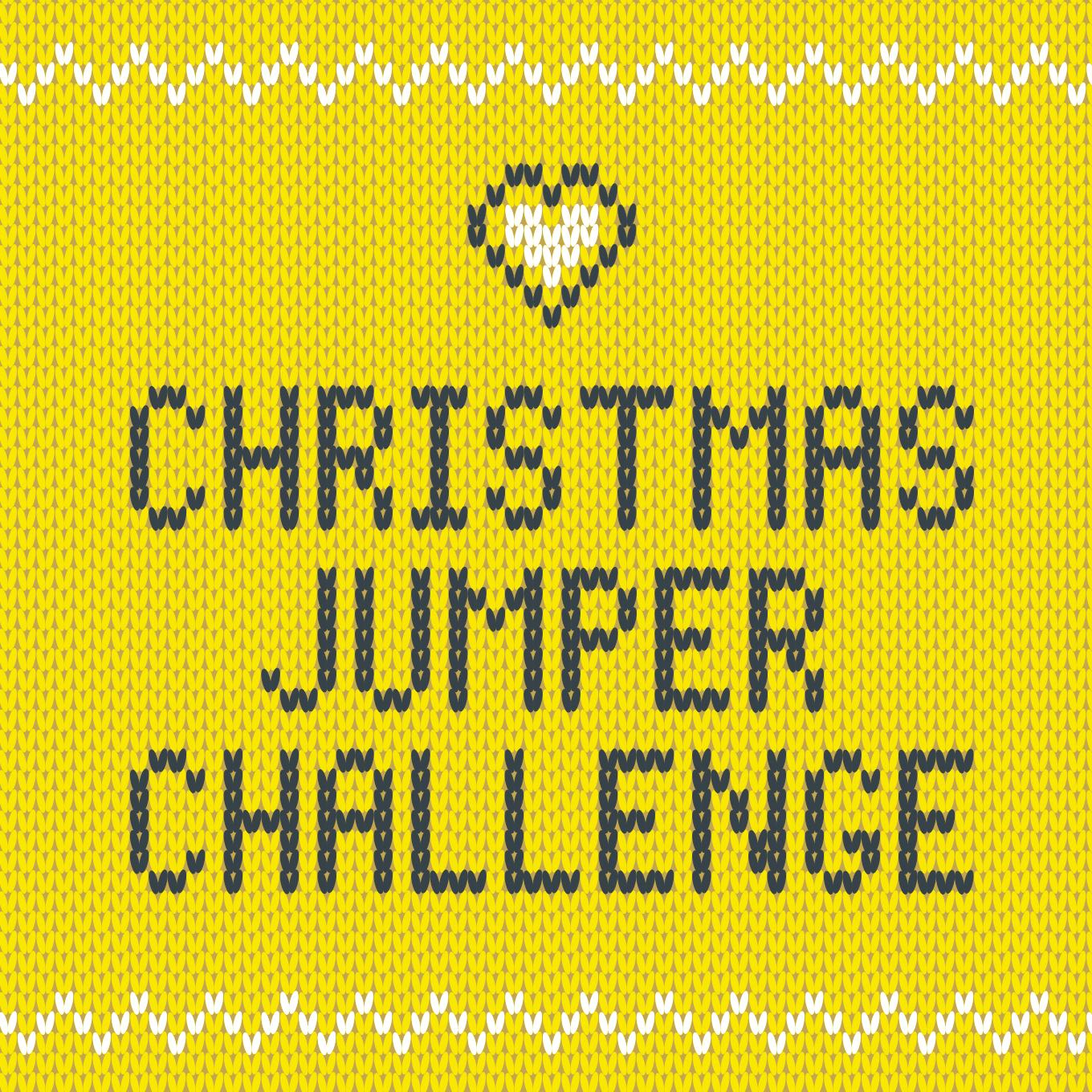 Knitted Christmas jumper challenge wording
