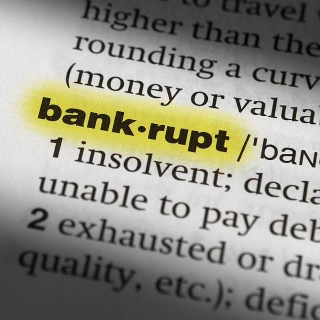 Bankrupt - dictionary definition