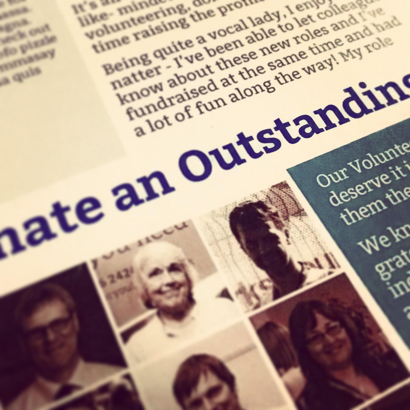 Close-up of print version of the 2014 summer newsletter