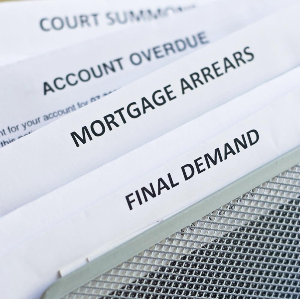 Mortgage Arrears, Final Demand, letters in a file
