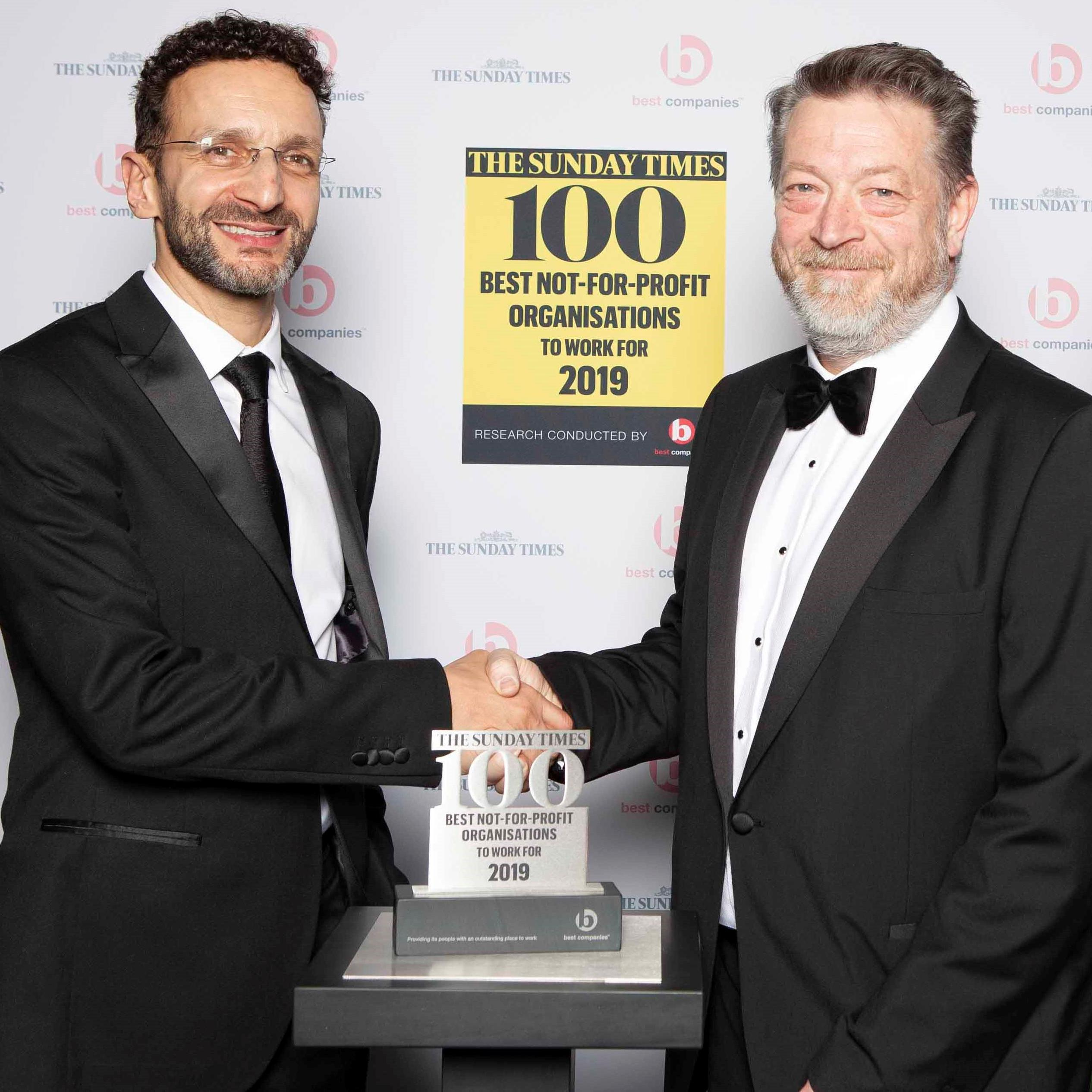 The Sunday Times Top 100 Not for Profit organisations